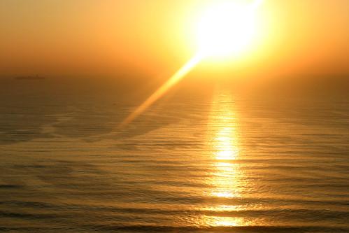 ocean sunrise southafrica ship indianocean durban kwazulunatal