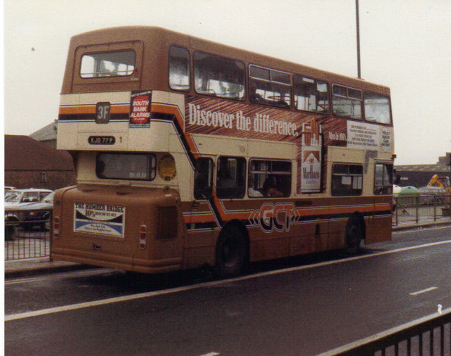 1 (5) KJD 77P, Daimler Fleetine (Rear t.1987)