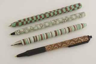Cane-Covered Polymer Clay Pens | by CraftyGoat