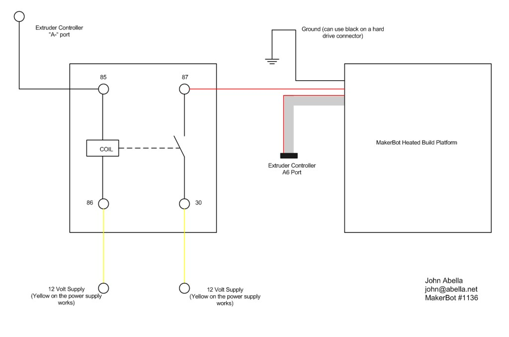 MakerBot Heated Build Plate - Relay Wiring Diagram   Flickr on network cable wire diagram, vga wire diagram, lcd wire diagram, hdmi cable wire diagram,