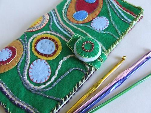 Felt Crochet Hook Holder