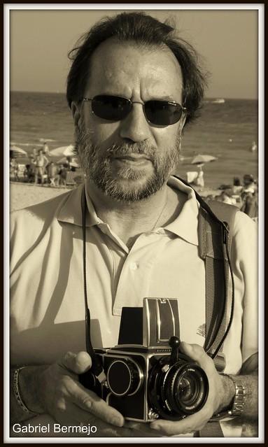 Fotógrafo y Hasselblad