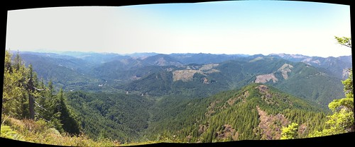 The view from King Mountain, Autostitched on iPhone | by Major Clanger
