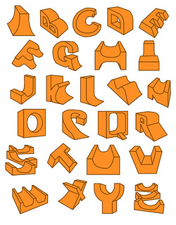 Skate Ramp Alphabet by Steve MacDonald aka RamblinWorker | by ! ramblinworker