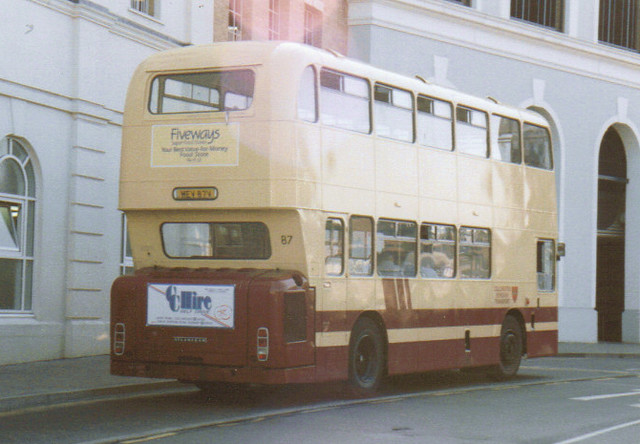 87, MEV 87V, Leyland Atlantean (3) (rear t.1991)
