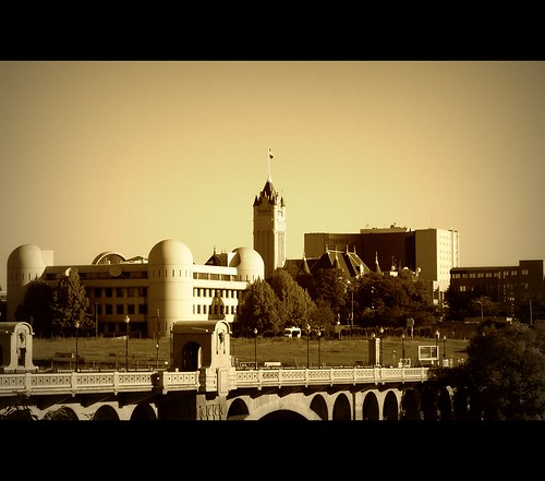 sepia sunrise campus washington spokane downtown landmark health jail courthouse publicworks spokanewa publichealth downtownspokane spokanecounty monroestreetbridge 99201 spokaneskyline spokanecountycourthouse spokanecountyjail spokanecountyhealthdistrict