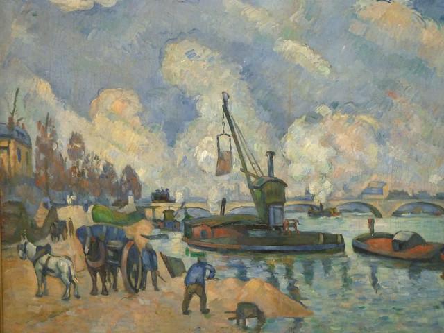 Paul Cézanne - At the quai de Bercy in Paris (1873-75)