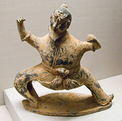 China - 6c Northern Western Wei - Acrobat Tomb Figure
