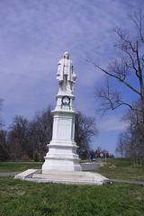 Columbus statue in Druid Hill Park