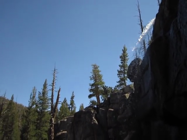 2960 Video of the small waterfall we camped near in Rafferty Canyon