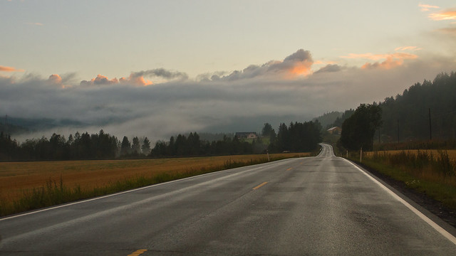 On the road in norway