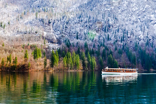 Tourist Boat on Königssee Lake | by Sergiu Bacioiu
