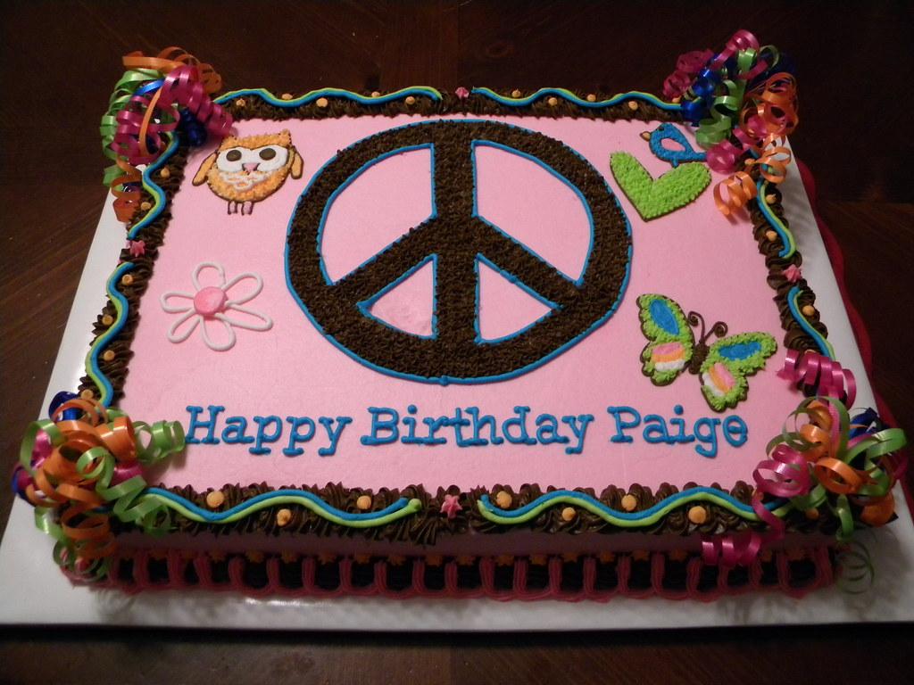 Fabulous Peace Birthday Cake Jennifer Flickr Personalised Birthday Cards Cominlily Jamesorg