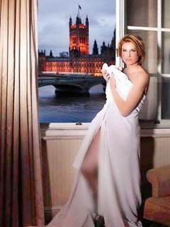 Sally Bercow posing in a sheet reveals Speaker husband