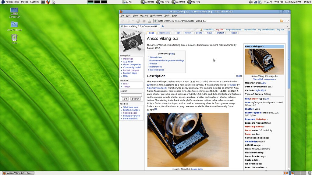 camera-wiki | screen capture of firefox viewing the camera-w… | Flickr