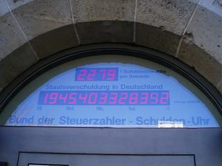 Schuldenuhr Deutschland Live 2021
