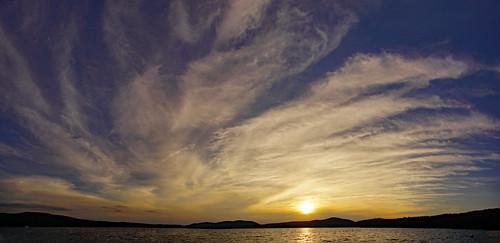 sunset sunsetbeach clouds tamron16300mm inletny inletnewyork hamiltoncounty adirondacks fourthlake panorama