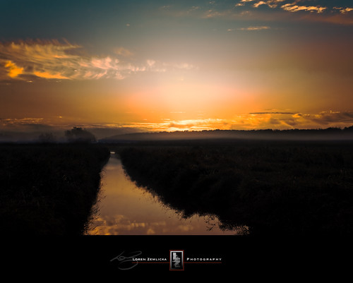 morning blue autumn light sky orange sun reflection fall nature water wisconsin clouds sunrise river landscape photography gold photo october stream image picture marsh fitchburg canoneos5d canonef1740mmf4l lorenzemlicka