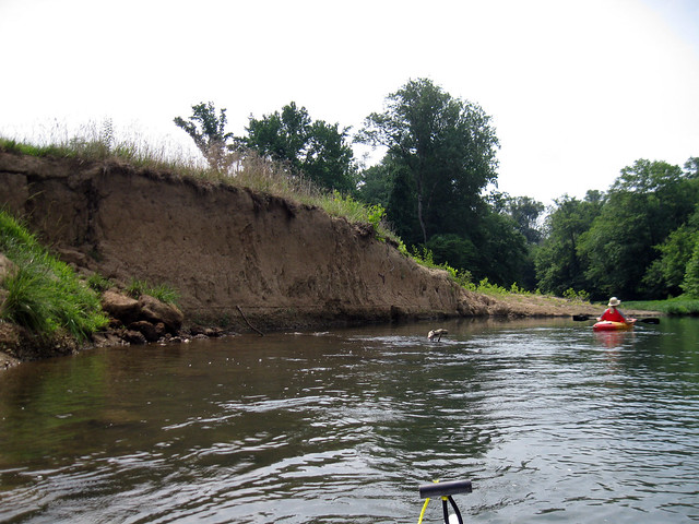 Sand and gravel cut bank, Barren Fork River, Warren Co, TN