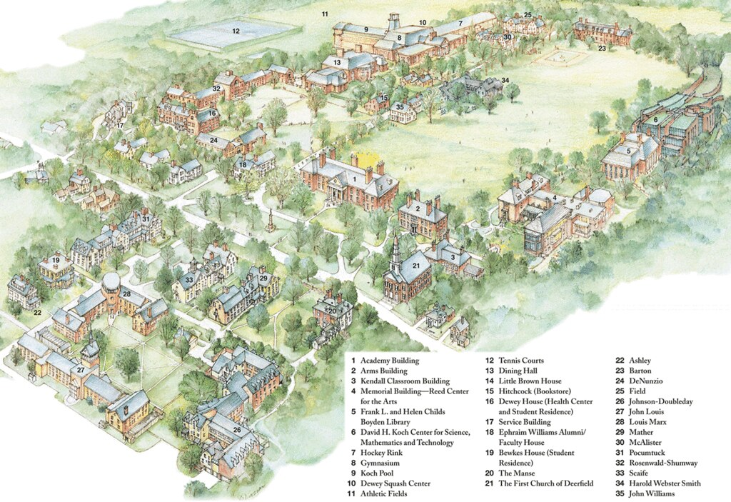 Deerfield Academy Campus Map   Deerfield Academy   Flickr on pfeiffer campus map, air products campus map, thiel campus map, valero campus map, laney campus map, neumann campus map, busch campus map, a&m campus map,