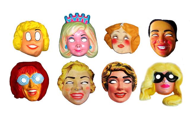 Ladies Halloween Masks Vintage 0545