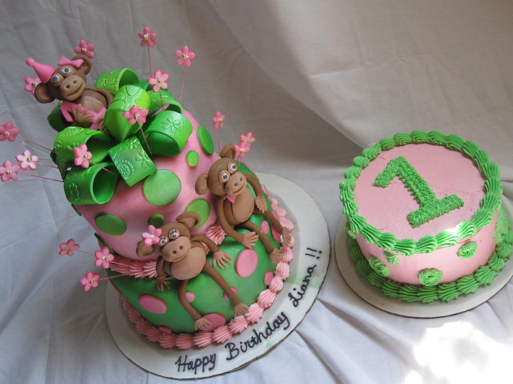 Surprising Monkey 1St Birthday Cake Monkey 1St Birthday Cake Flickr Personalised Birthday Cards Petedlily Jamesorg