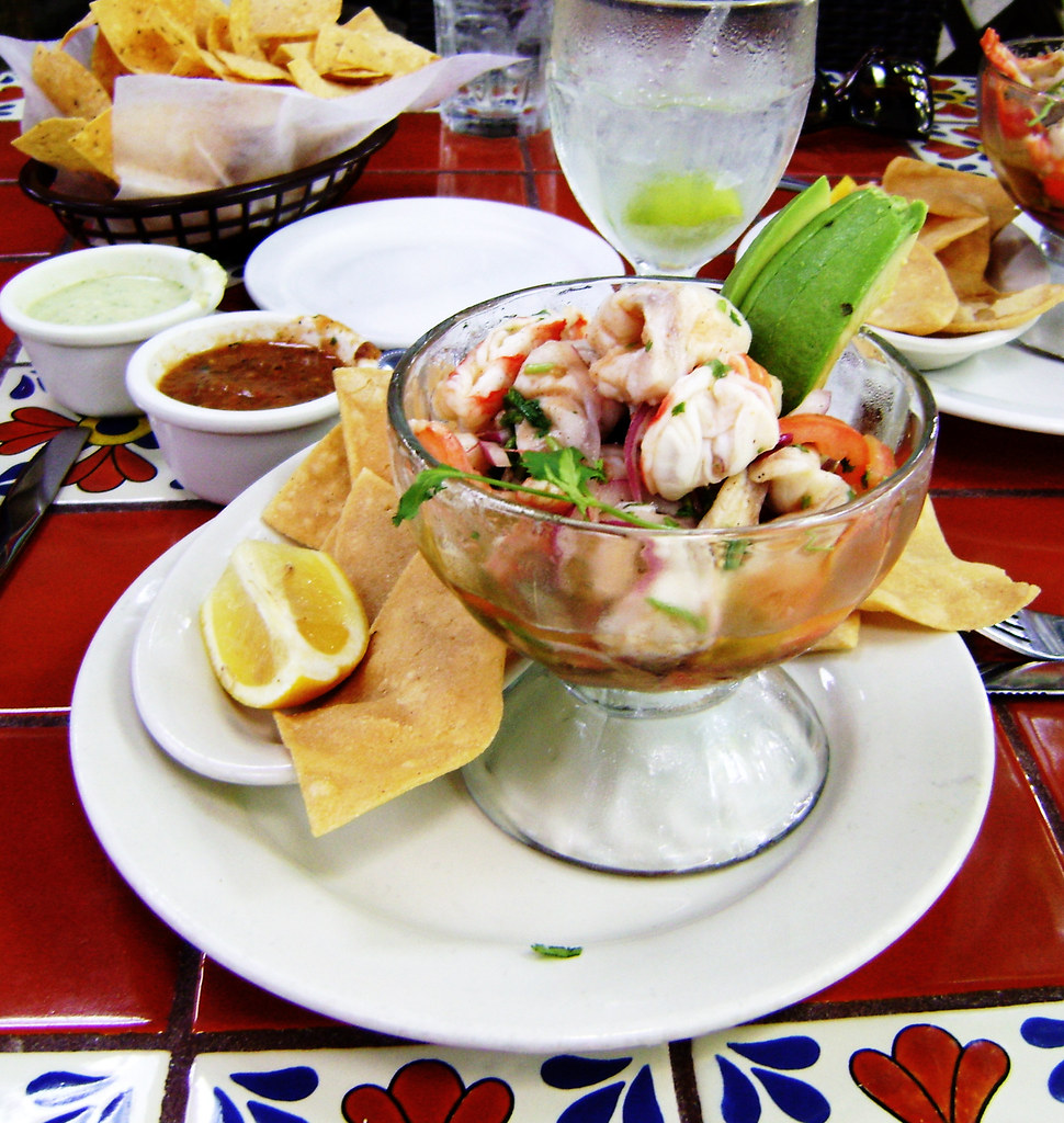Ceviche Mexican food and dish