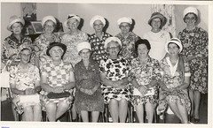 The foundation members of the Mallala Branch of CWA taken on the 25th anniversary in 1971. The president Mrs Margary Roberts is seated in the front row 4th from the left.