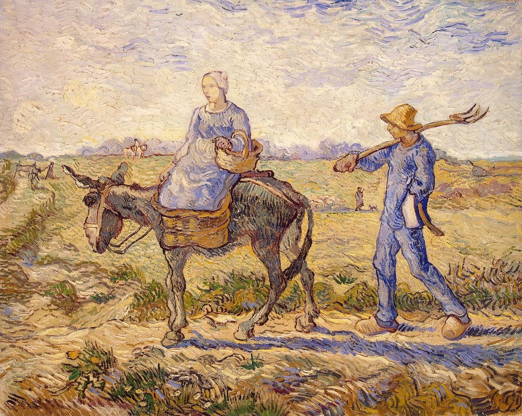 Vincent van Gogh - Morning, Going out to Work (after Millet) [1890]