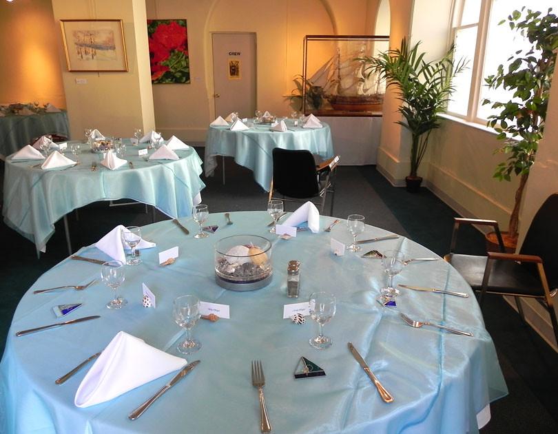 Mezzanine Wedding Reception   Reception decorations courtesy ...