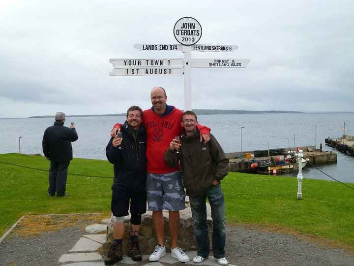 Me, Matt and Dave at the sign