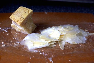 parmesan, paper-thin   by smitten kitchen