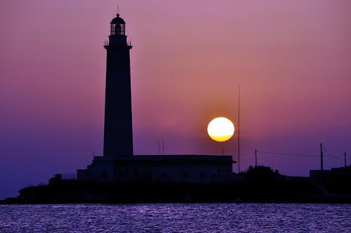 sunset sea lighthouse faro tramonto mare mywinners kartibubbo granitola rgspaesaggio rgsmare ferragosto2010