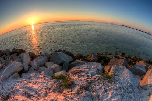 sunset summer beach rocks pentax florida fisheye hdr tarponsprings howardpark photomatix tonemapped da1017mm