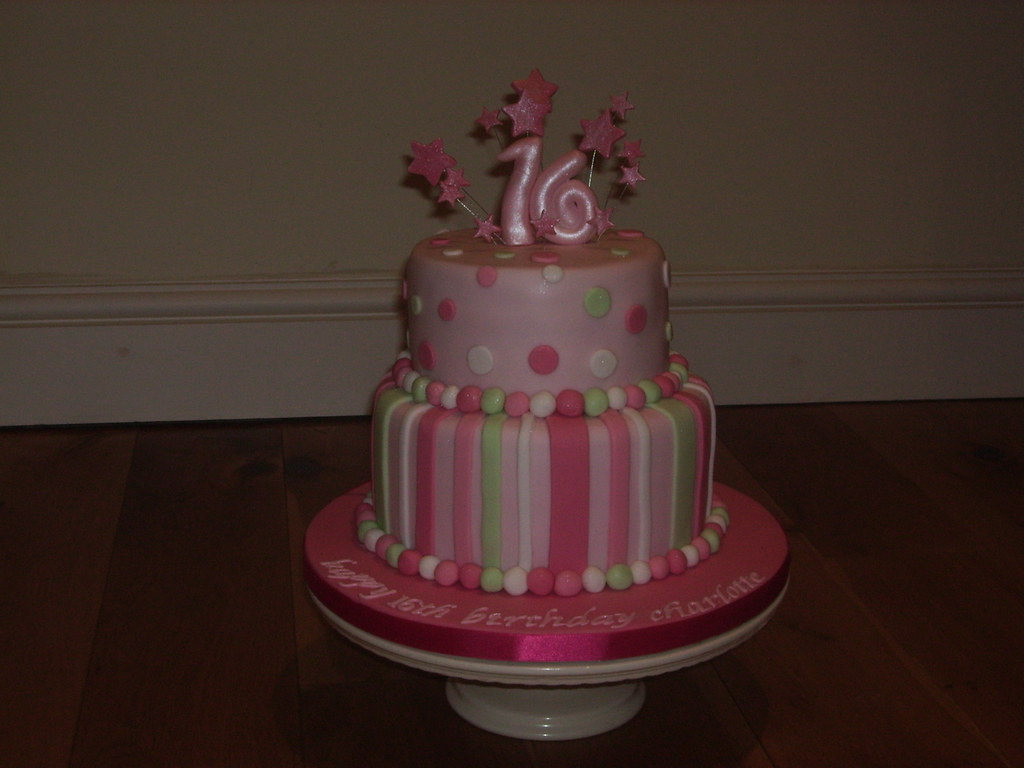 Fantastic 16Th Birthday Cake A Sweet Sixteens Birthday Cake It Had Flickr Funny Birthday Cards Online Alyptdamsfinfo