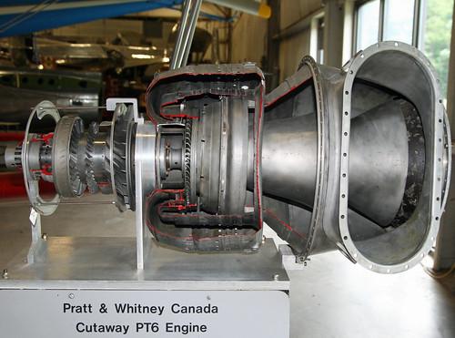 turboprop aircraftengine turbineengine newenglandairmuseum prattwhitneycanadapt6a