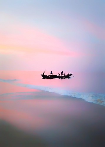 dreamy landscape fisherman cottoncandy arabiansea