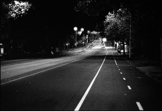 North melbourne streets at night