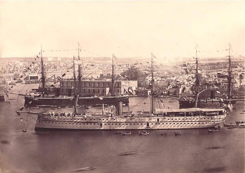 British Troop Ship In Grand Harbour Malta Circa 1870s Flickr