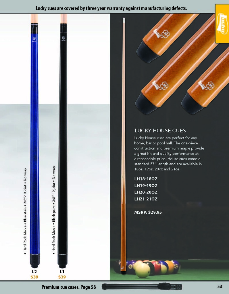 Page 53 - McDermott Lucky House Cues | l2 l1 McDermott Lucky