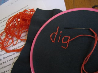 embroidery at Digital Humanities 2010 Conference