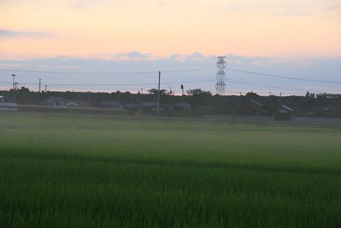 sunset college geotagged niigata shibata 新潟 keiwa 敬和学園大学 新発田 geo:lat=37956558 geo:lon=139291733