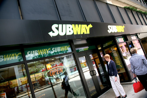 "Chicago (ILL) downtown, W.Adams St. "" Subway Restaurant "" 