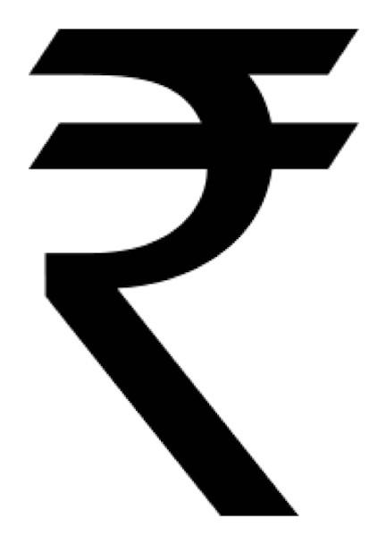 Image result for rupee symbol