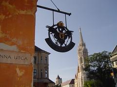 -In Buda: Castle Hill: Hapsburg double-eagle