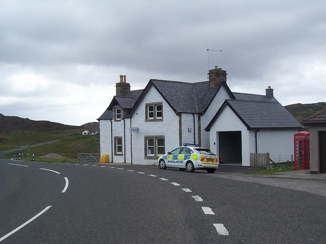 Rhiconich and Kinlochbervie Police Station, North West Sutherland, May 2010