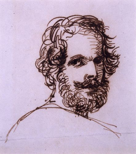 Severn, Joseph (1793-1879) - 1838 Portrait of Edward John Trelawny (National Portrait Gallery, London)