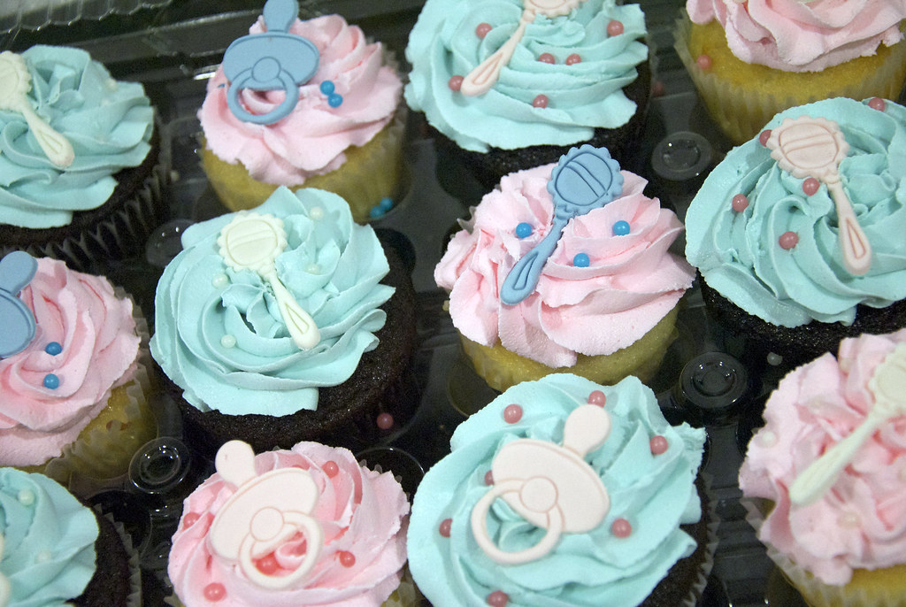 Cc3031 Pink Blue Baby Shower Cupcakes Cc3031 A Variety Flickr