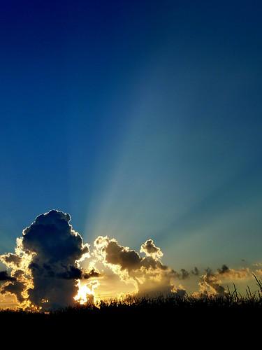 sunset cloud sun nature clouds corn midwest morgancounty jacksonvilleillinois bobbarber barberfarms