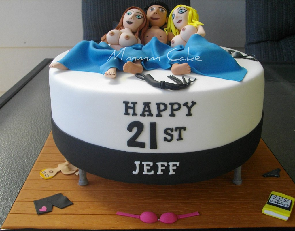 Stupendous Naughty 21St Cake This Cake Was Fun A Friend Ordered It Flickr Personalised Birthday Cards Epsylily Jamesorg